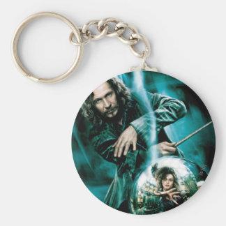 Sirius Schwarzes und Bellatrix Lestrange Standard Runder Schlüsselanhänger