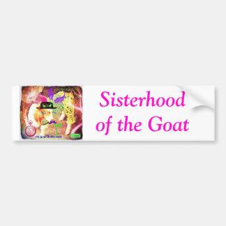 Sisterhood des Ziegen-Autoaufklebers Autoaufkleber