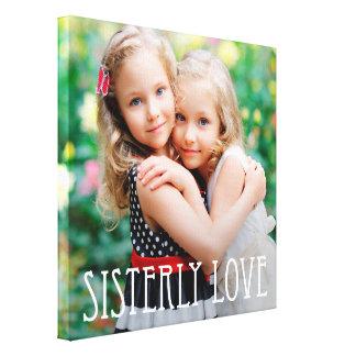 Sisterly Liebe-kundenspezifische Foto-Leinwand Leinwand Druck