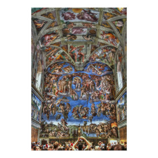 Sistine Kapelle, Vatikanstadt, Rom, Italien Poster
