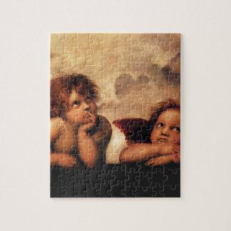 Sistine Madonna 2 Engel durch RAPHAEL Puzzle