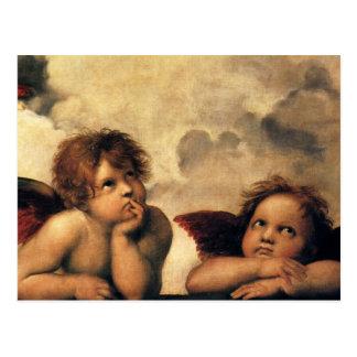 Sistine Madonna Engel durch RAPHAEL, Postkarten