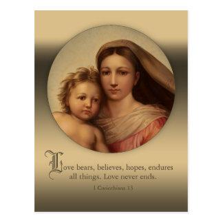 Sistine Mary und Jesus-KindLiebe zitieren CC0977 Postkarte