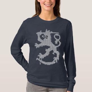 Sisu der weißen die lange Hülse Löwe-Frauen T-Shirt