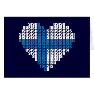Sisu Herz-faltende Karte