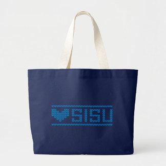 Sisu Herz-Strick-Tasche 2 Jumbo Stoffbeutel