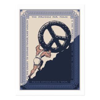 Sisyphus Frieden Postkarte
