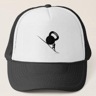 Sisyphus Kettlebell Hartnäckigkeits-T - Shirt Truckerkappe