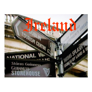 Siteseeing Postkarte Dublins Irland Eire