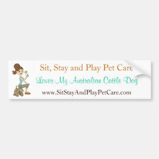 SitStay&PlayPetCare Liebe mein australischer Autoaufkleber