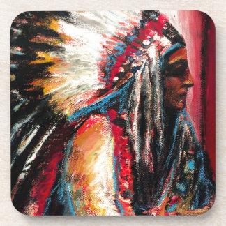 Sitting Bull in der Farbe Getränkeuntersetzer
