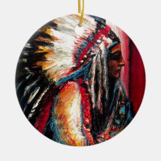 Sitting Bull in der Farbe Keramik Ornament