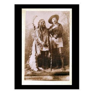 Sitting Bull und Buffalo Bill 1895 Postkarte