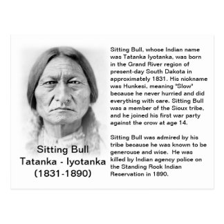 Sitting- Bulltatsachen-KARTE Postkarte