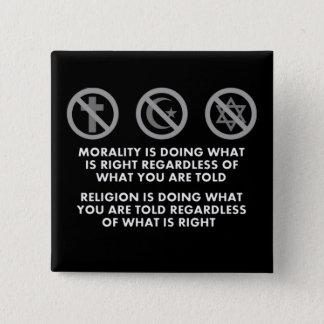 Sittlichkeitsgefühl und Religion Quadratischer Button 5,1 Cm