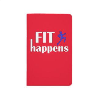 Sitz geschieht Trainings-Motivation Taschennotizbuch