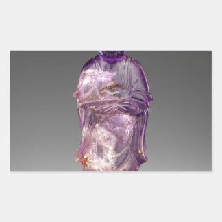 Sitzbuddha - Qing-Dynastie (1644-1911) Rechteckiger Aufkleber