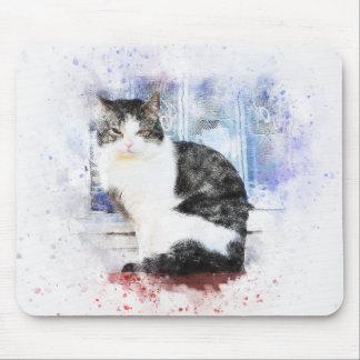 Sitzen durch den Fenster| abstrakten | Watercolor Mousepad