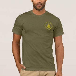 Sitzen Sie + Aufenthalt + Gutes Karma T-Shirt