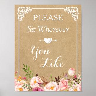 Sitzen Sie bitte, wohin Sie | Poster