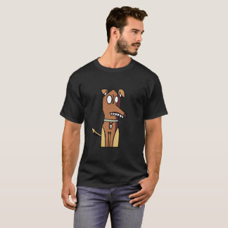 Sitzende Hundeillustration T-Shirt