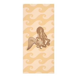 Sitzende Meerjungfrau Werbekarte