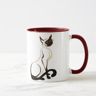 Sitzende siamesische Kitty-Tassen Tasse
