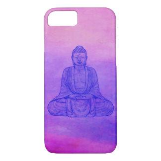 Sitzender Buddha auf Aquarell-Wäsche iPhone 8/7 Hülle
