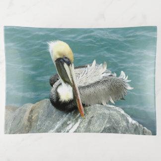 Sitzender Pelikan Dekoschale