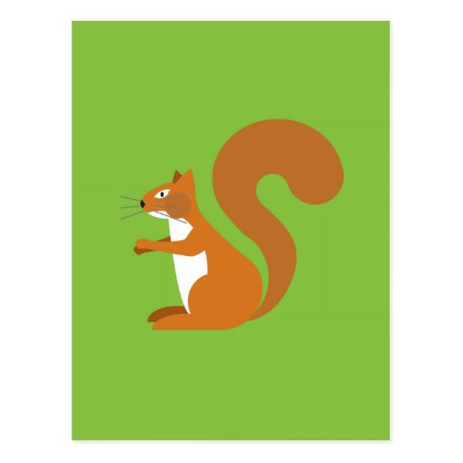 Sitzendes Eichhörnchen Postkarte