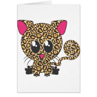 Sitzendes Jaguar Karte