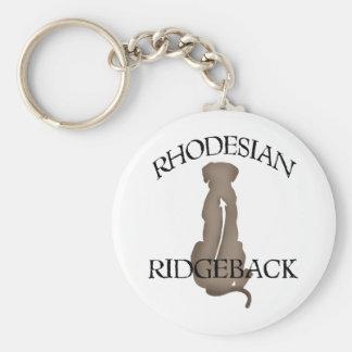 Sitzendes Rhodesian Ridgeback mit Text Schlüsselanhänger
