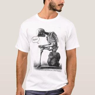 Sitzendes Vintages skeleton denkendes Shirt