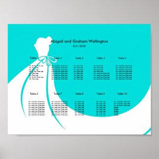 Sitzplatz-Diagramm der Braut Kleider Poster