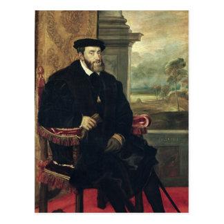 Sitzporträt des Kaisers Charles V 1548 Postkarte