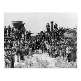Sitzung der Schienen - Vorgebirge-Punkt Utah 1869 Postkarte
