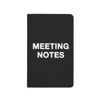 Sitzung merkt Notizbuch