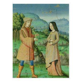 Sitzung von Aeneas und Anne, die Schwester von Postkarte