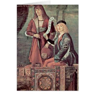 Sitzung von dem verlobten durch Vittore Carpaccio Grußkarte