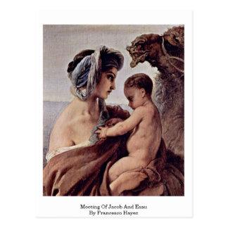 Sitzung von Jakob und von Esau durch Francesco Postkarte