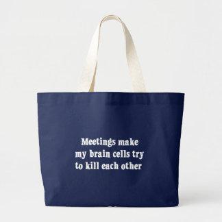 Sitzungen machen mich Gehirn totes (2) Jumbo Stoffbeutel