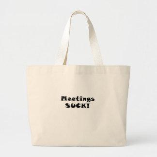 Sitzungen sind zum Kotzen Jumbo Stoffbeutel