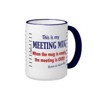 Sitzungs-Tassen-lustige Büro Humor-Kaffee-Tasse