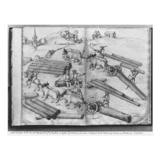 Siver Bergwerk von La Croix-Zusatz-Bergwerken, Postkarte