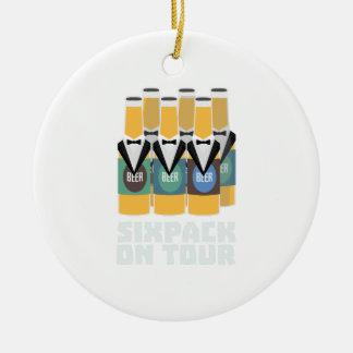 Sixpack Bier auf Ausflug Zn1pu Keramik Ornament