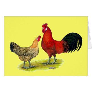 Sizilianische Butterblume-Hühner Mitteilungskarte