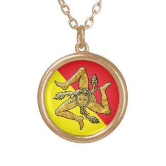 Sizilianisches Trinacria im Gold Vergoldete Kette