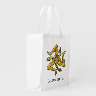 Sizilianisches Trinacria personifizieren Wiederverwendbare Einkaufstasche