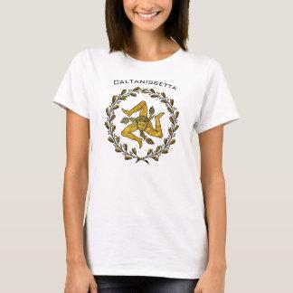 Sizilianisches Trinacria und olivgrüner Kranz T-Shirt