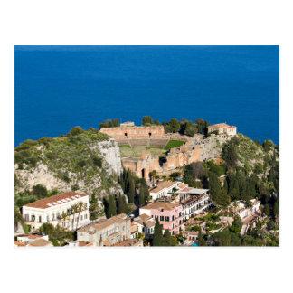Sizilien - altes Theater von Taormina Postkarte